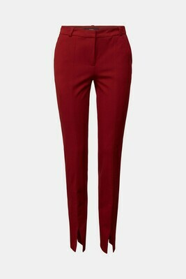 Trousers with front slit