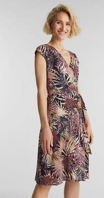 Sheath dress with a palm tree print