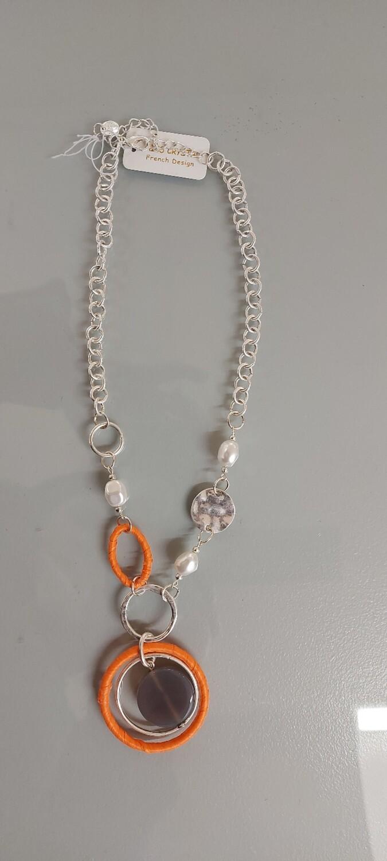 Ribbon coated necklace