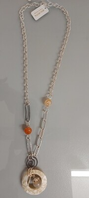 Shell and beaded necklace
