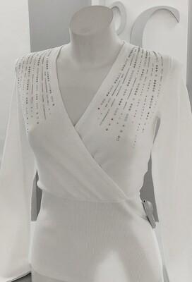 V neck fine knit