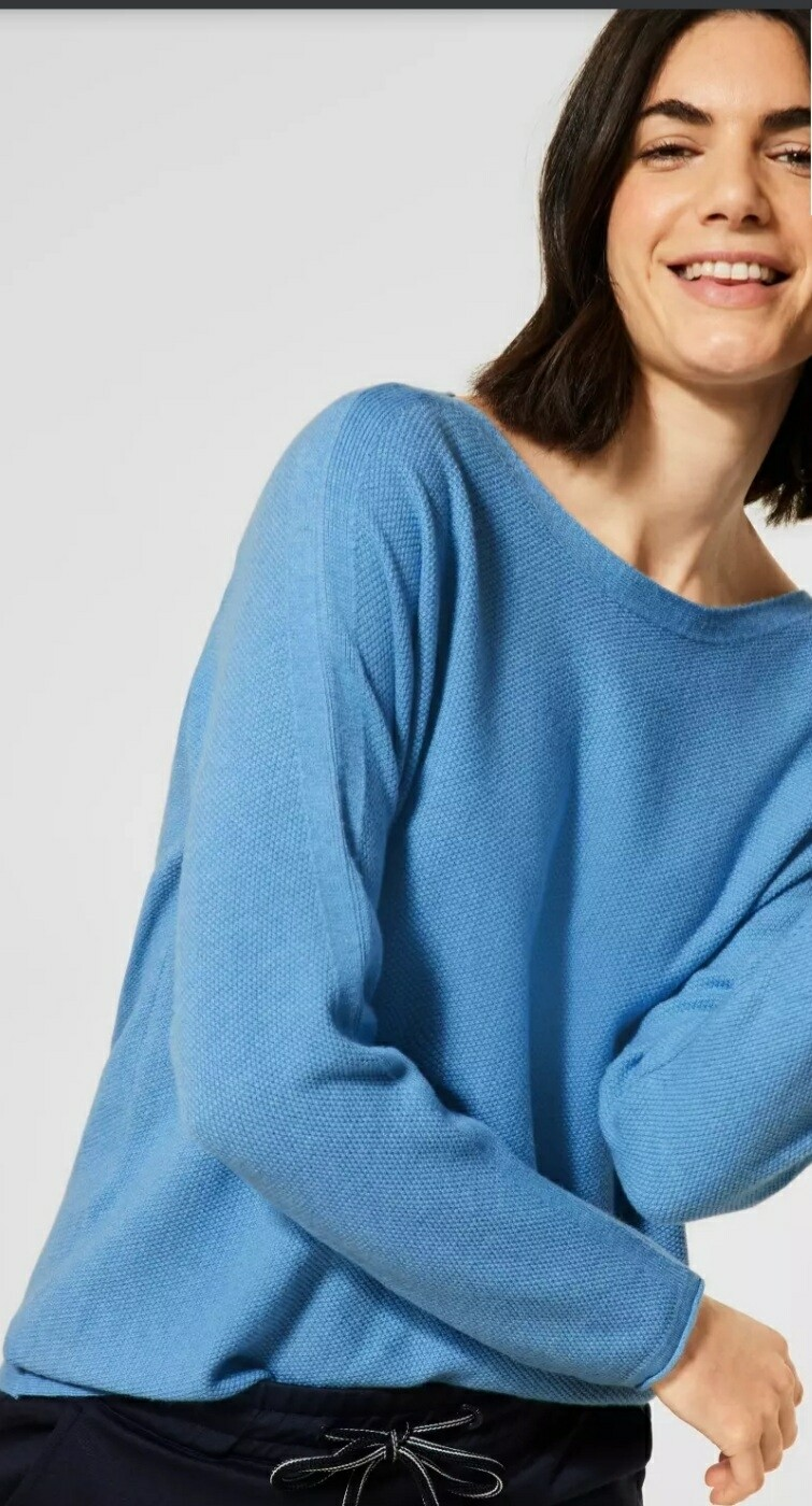 Textured Knit with Button Detail