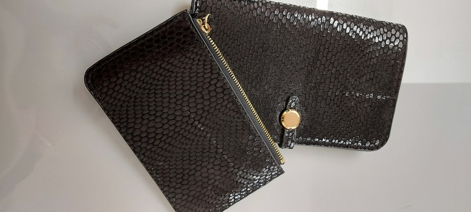 Leather Purse in Black