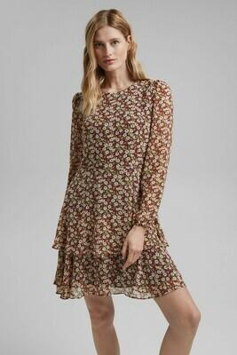 Chiffon dress with floral print