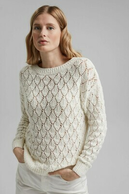 Lace Knit Jumper Off White
