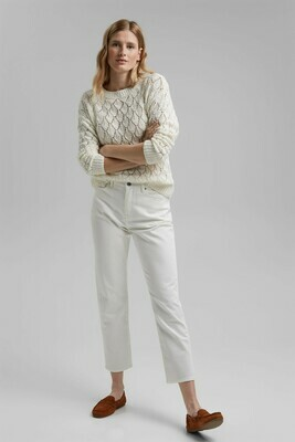Lace Knit Jumper in Sand