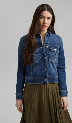 Organic cotton denim jacket in a garment-washed look