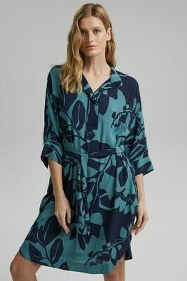 Botanical Print Kimono Style Dress
