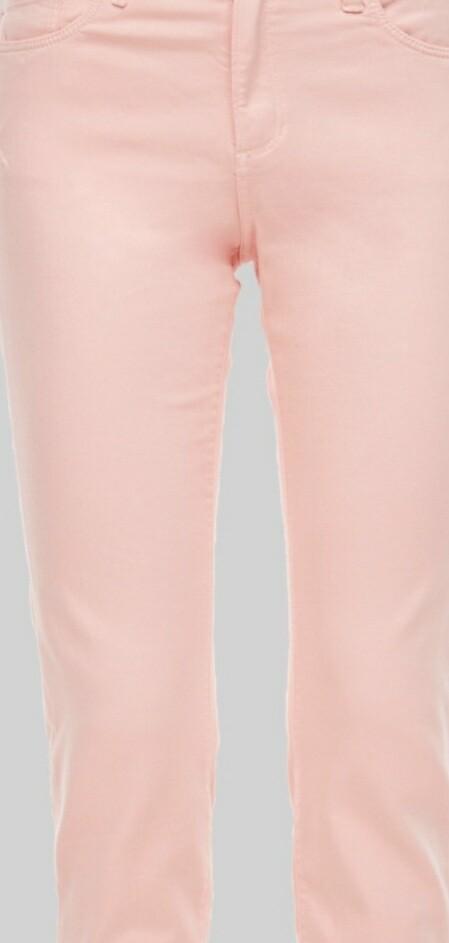 Slim Fit Jeans in Pale Pink