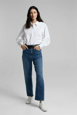 Stretch Cotton Blouse in White