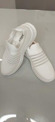 White Shoe with Self Stripe