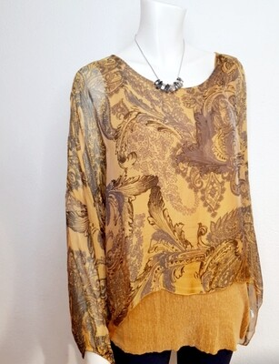 Silk top with shimmer