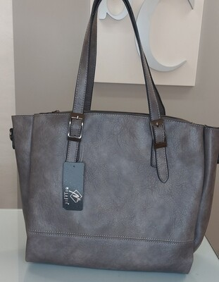 Hand bag with belt buckle