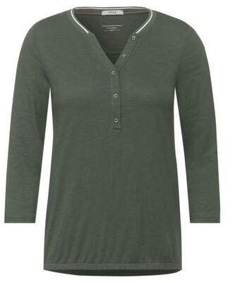Shirt with slub yarn