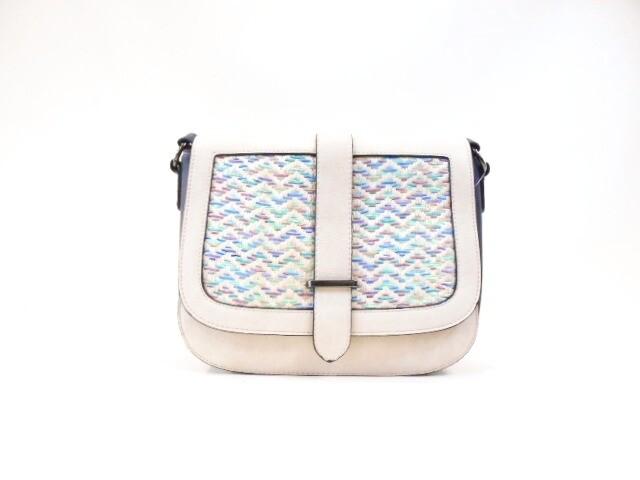 Strap zig-zag shoulder bag