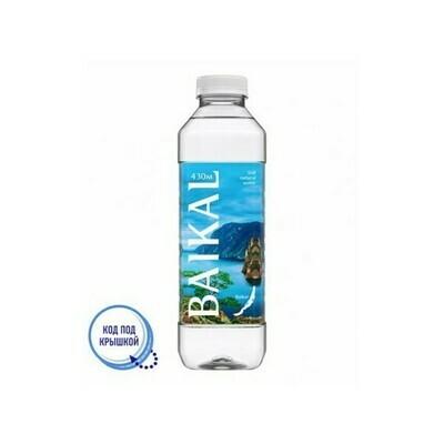 Глубинная байкальская вода BAIKAL430, ПЭТ, 6 шт. по 0,85 л