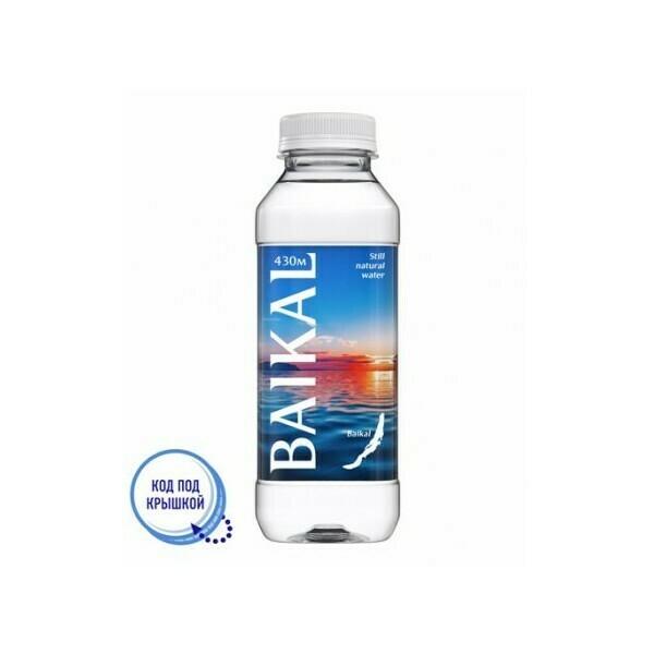 Глубинная байкальская вода BAIKAL430, ПЭТ, 12 шт. по 0,45 л