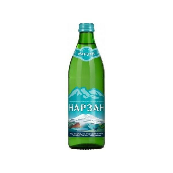 Минеральная лечебно-столовая вода «Нарзан», Стекло, 20 шт. по 0,45 л
