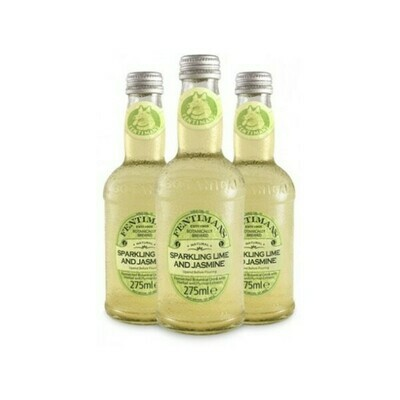 Лимонад Фентиманс «Лайм и Жасмин» (Fentimans Sparkling Lime & Jasmine), Стекло, 12шт. по 0,275 л