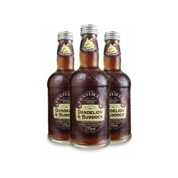 Лимонад Фентиманс «Лопух и Одуванчик» (Fentimans Dandelion & Burdock), Стекло, 12шт. по 0,275 л