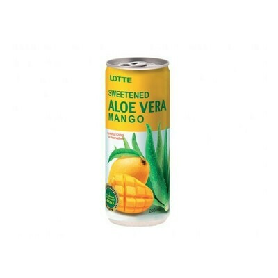 Напиток «Алоэ Вера» негазированный с мякотью алоэ со вкусом Манго (Lotte Aloe Vera), ЖБ, по 30 шт. по 0,24 л