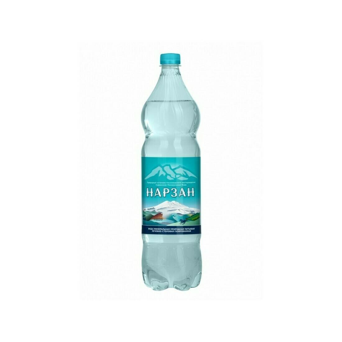 Минеральная лечебно-столовая вода «Нарзан», ПЭТ, 6 шт. по 1,5 л