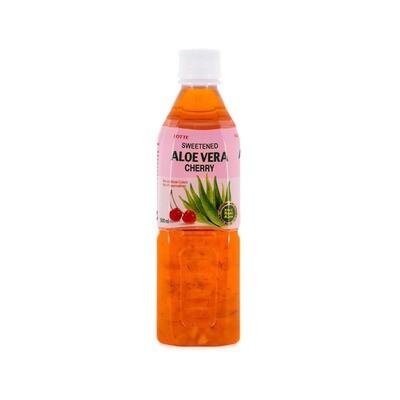 Напиток «Алоэ Вера» негазированный с мякотью алоэ со вкусом Вишни (Lotte Aloe Vera), ПЭТ, 20 шт по 0,5 л