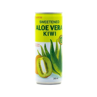 Напиток «Алоэ Вера» негазированный с мякотью алоэ со вкусом Киви (Lotte Aloe Vera), ЖБ, по 30 шт. по 0,24 л