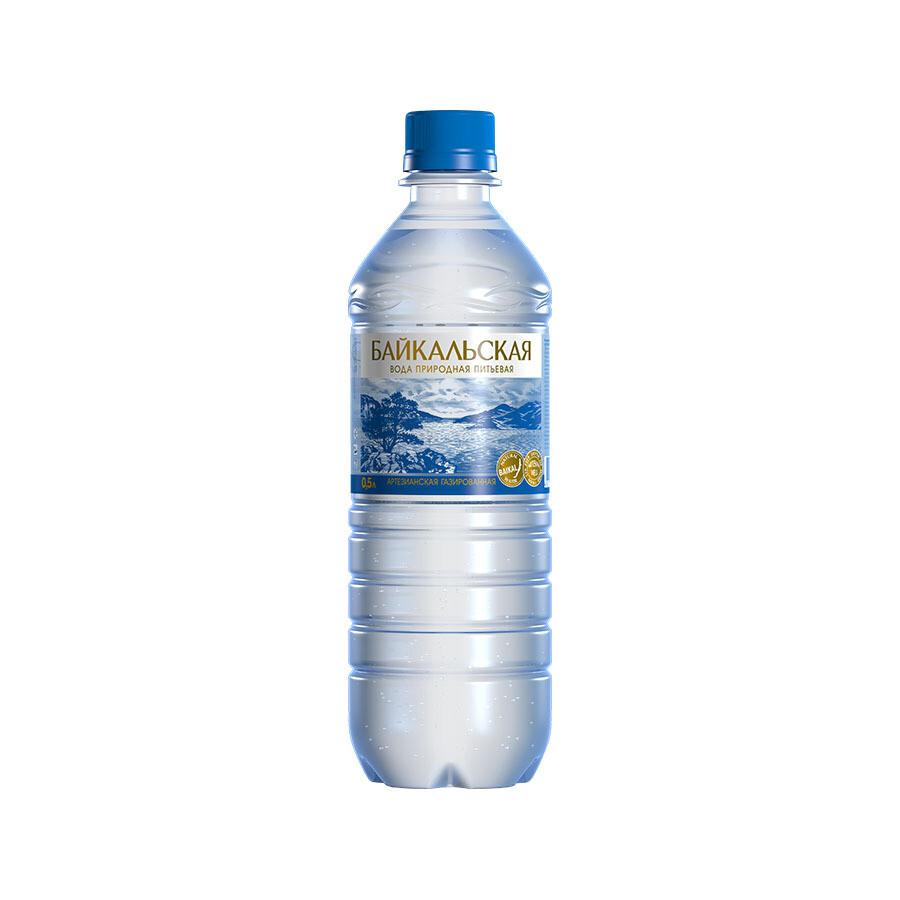 Питьевая вода «Байкальская» газ., ПЭТ, 12 шт. по 0,5 л