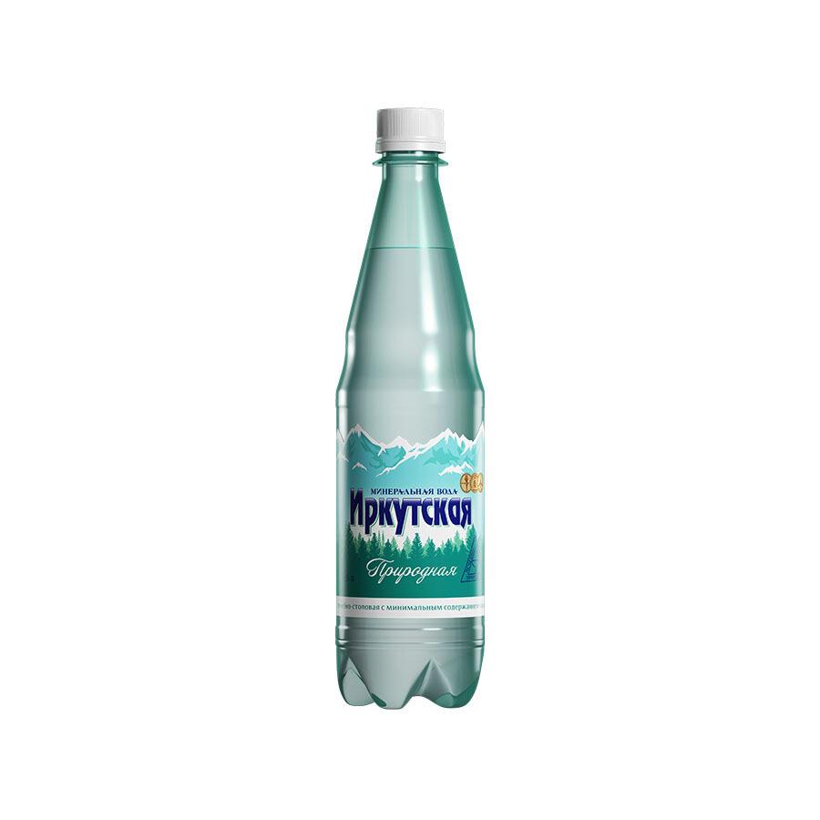 Минеральная лечебно-столовая вода «Иркутская Природная», ПЭТ, 12 шт. по 0,6 л