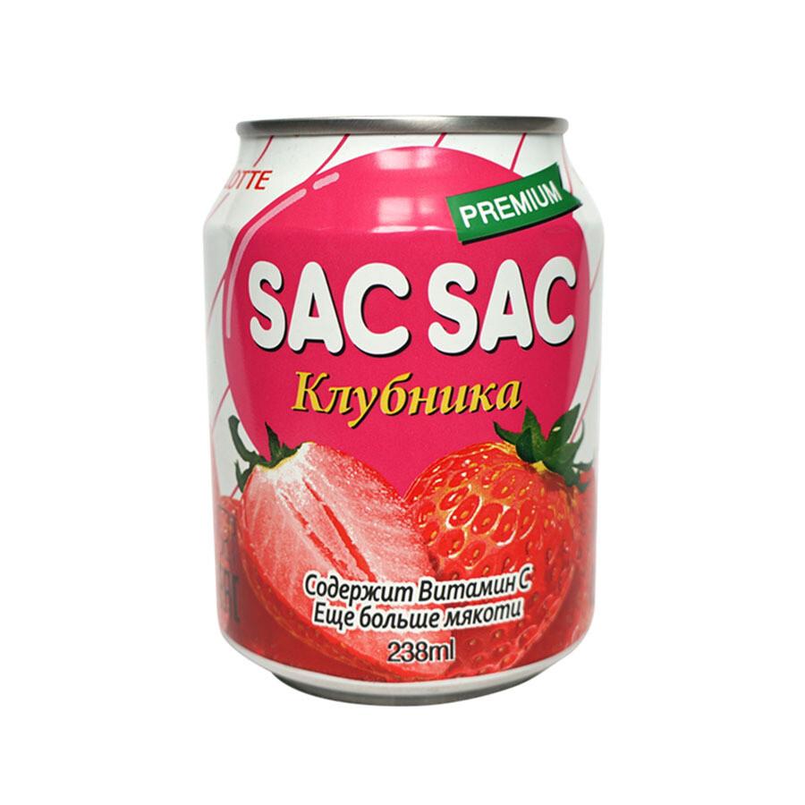 Газированный напиток SAC SAC Клубника (Strawberry), ЖБ, по 12 шт. по 0,24 л