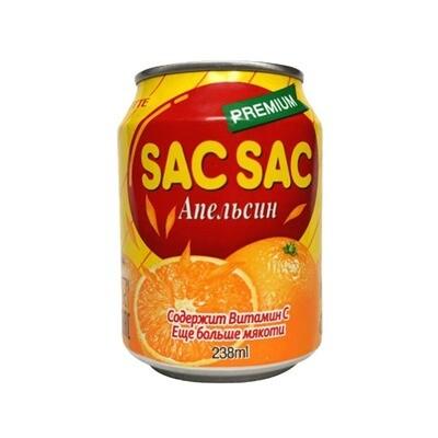 Газированный напиток SAC SAC Апельсин (Orange), ЖБ, по 12 шт. по 0,24 л