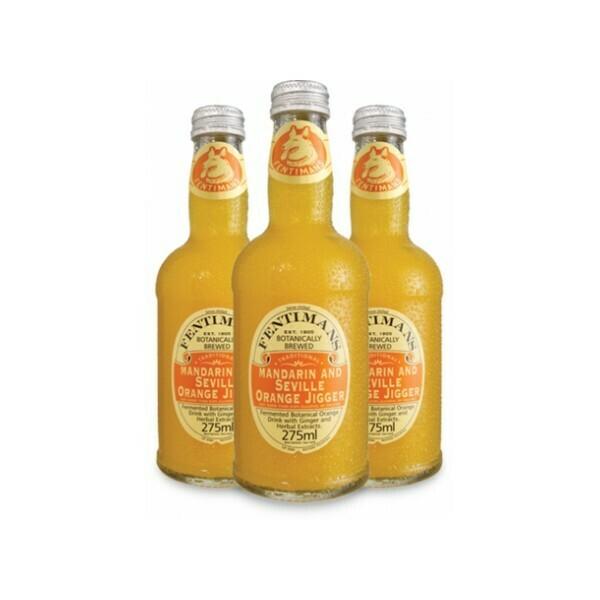 Лимонад Фентиманс «Мандарин и Севильский Апельсин» (Fentimans Mandarin & Seville Orange Jigger) , Стекло, 12шт. по 0,275 л