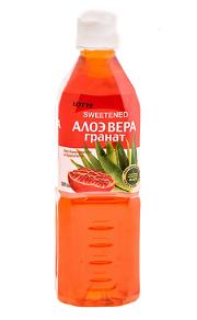 Напиток «Алоэ Вера» негазированный с мякотью алоэ со вкусом Граната (Lotte Aloe Vera), ПЭТ, 20 шт. по 0,5 л