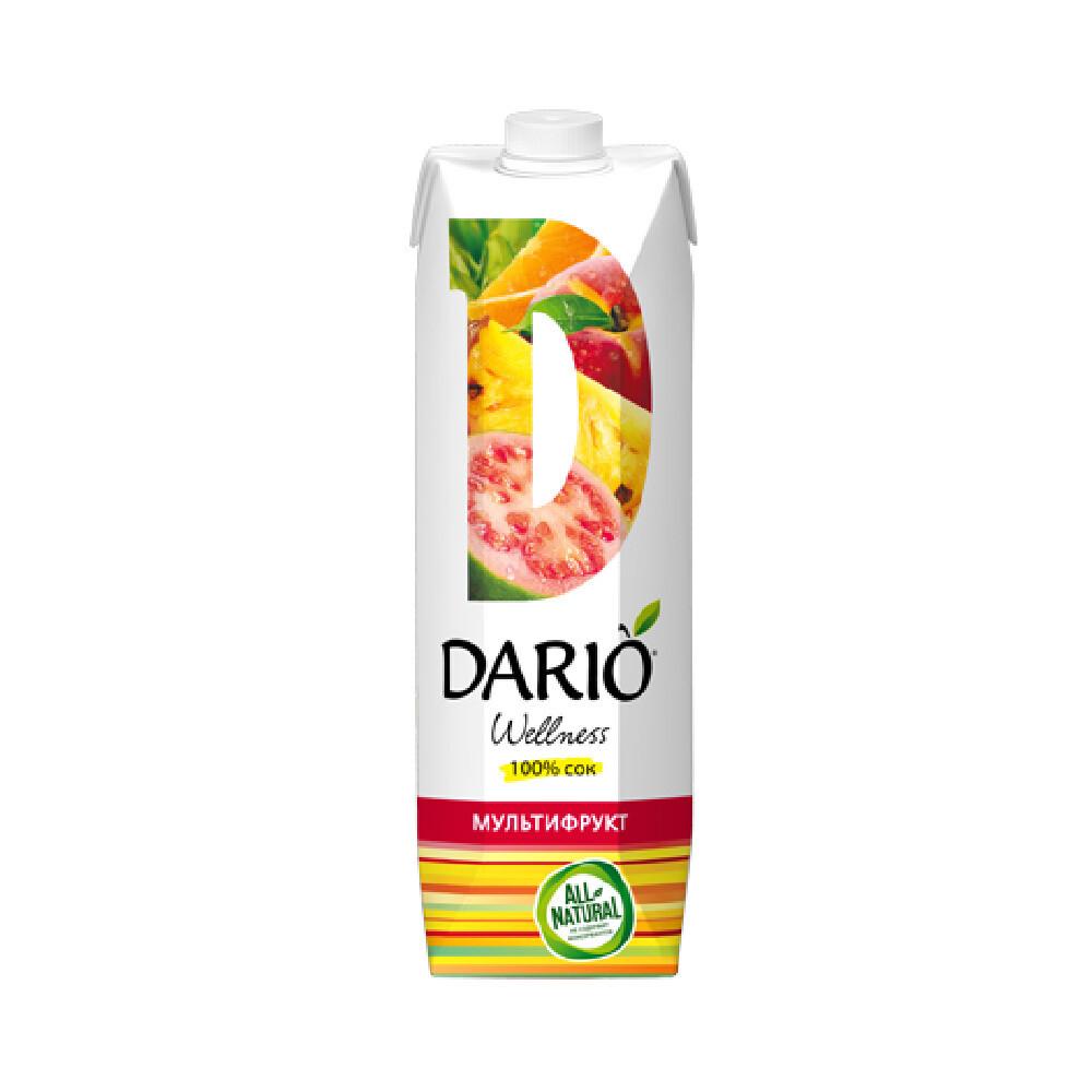 Дарио Велнес Мильтифрукт, 6 шт. по 0,95 л