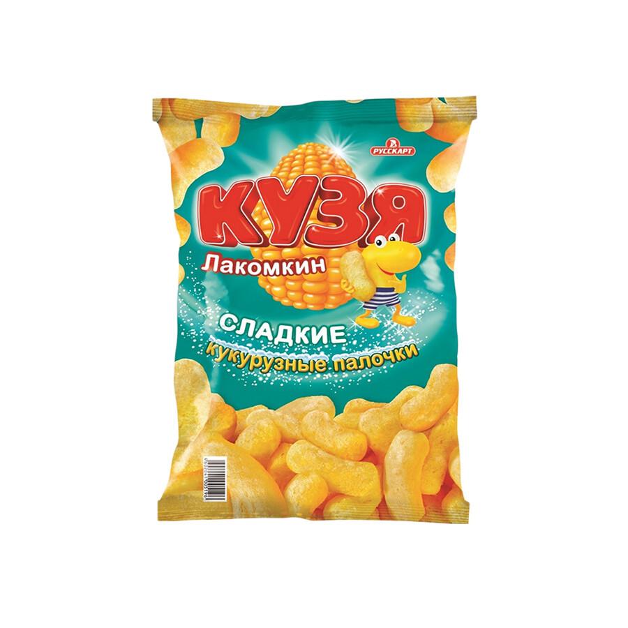 Кузя Лакомкин  «Кукурузные палочки с сахарной пудрой» 16шт 85г