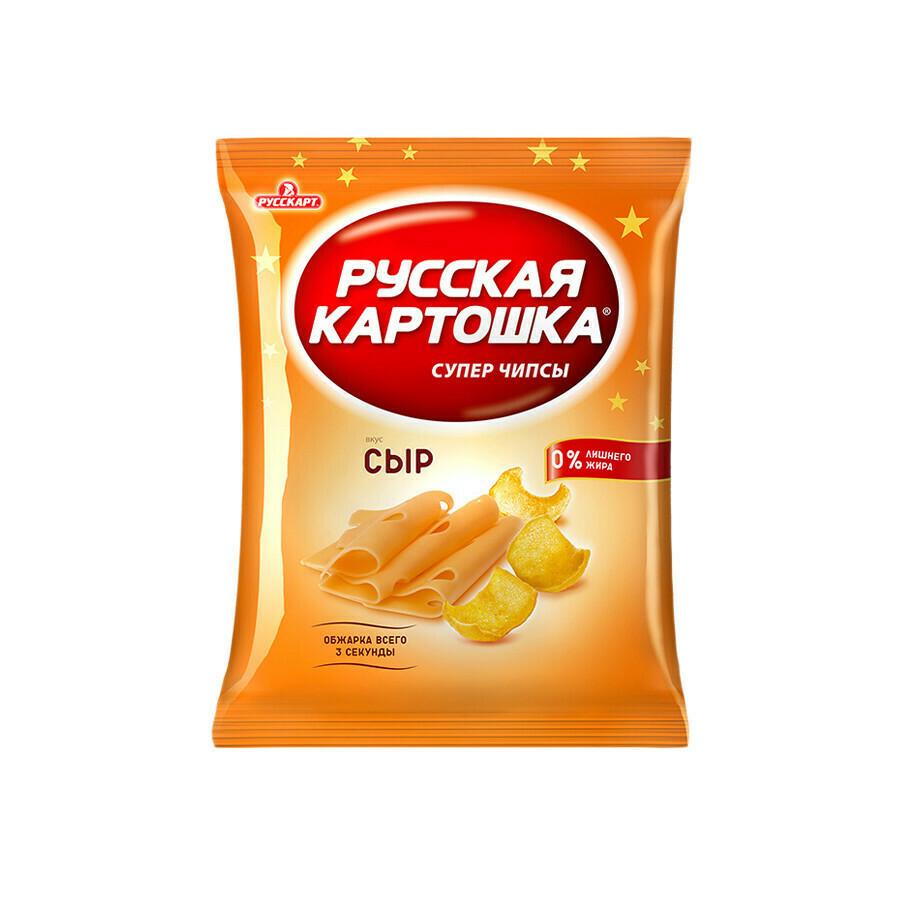 Русская картошка «Чипсы картофельные со вкусом сыра»  16шт 80г