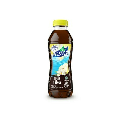 Нести «Черный чай со вкусом груши и ванили» ПЭТ 6шт. по 0.5 л
