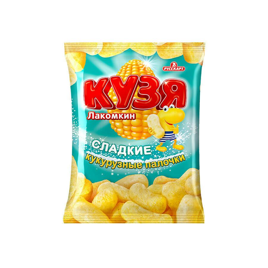 Кузя Лакомкин «Курузные палочки  с сахарной пудрой» 12шт 140г