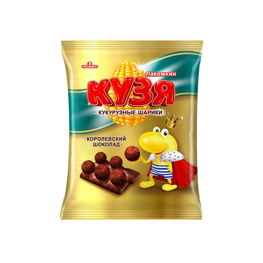 Кузя Лакомкин «Кукурузные шарики с шоколадом» 14шт 100г