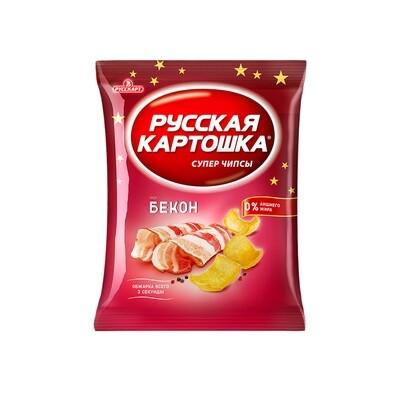 Русская картошка «Чипсы картофельные со вкусом бекон» 16шт 80г