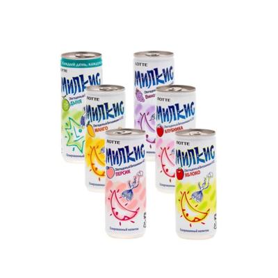 Напиток «Милкис» газированный МИКС (Lotte Milkis), ЖБ, по 30 шт. по 0,25 л