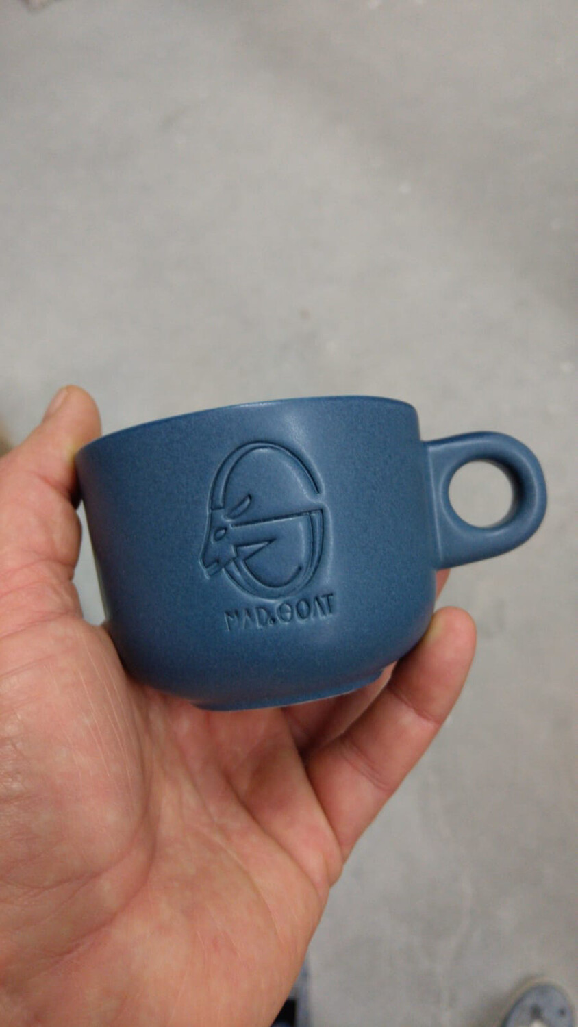 Cappuccino cup (blue)
