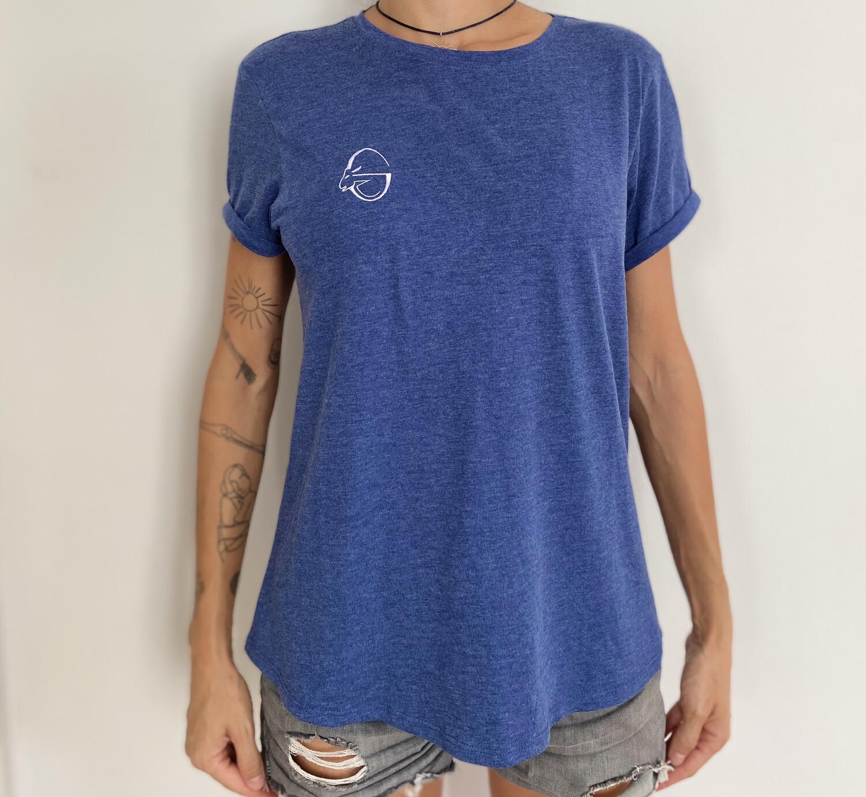 Goat-lady T-shirt (blue)