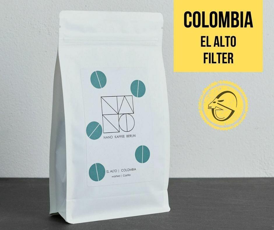Colombia | El Alto Cafea de specialitate Nano Kaffee, pentru cafea la filtru