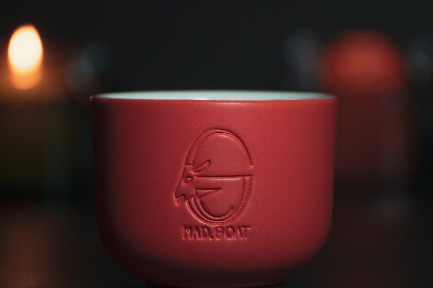 Cappuccino cup (red, no handle)