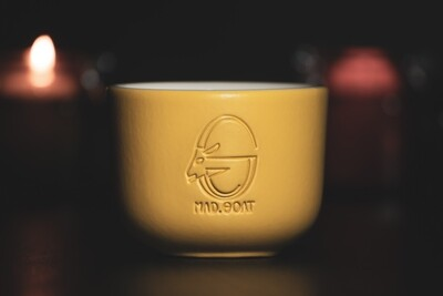 Cappuccino cup (yellow, no handle)