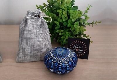 Mándala Azul y Blanca