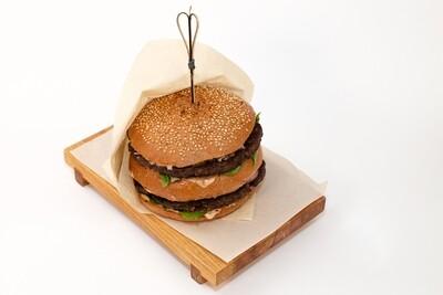 Дабл бургер с говяжьей котлетой 400 гр.