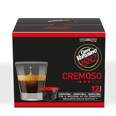 Caffè Vergnano Cremoso  Dolce Gusto®*/NESCAFE®* kompatibilis kávékapszula 90 g